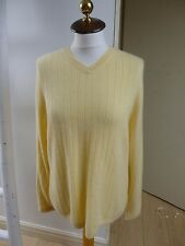 Apt 9 pure cashmere  reworked tunic style yellow mans jumper  size  L