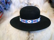 BILLY JACK MOVIE REPLICA HANDLOOMED BEADED HATBAND/INDIAN JOE ROUND DOME HAT