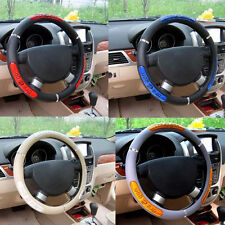 Sport Type Chinese Dragon Motor Car Rubber Steering Wheel Cover Rim 38cm 15""