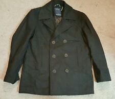 Nautica Men's Wool Pea Coat, Black, Sz. Lg.