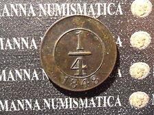 REPUBBLICA DOMINICANA 1/4 REAL BRASS 1848  COD. DOMINICA-2