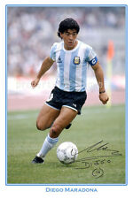 * DIEGO MARADONA SIGNED AUTOGRAPH POSTER PHOTO PRINT * Argentina FC star