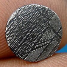 GIBEON meteorite KILLER etched slice 1.08 G. round coin 10x2 mm ETCHED
