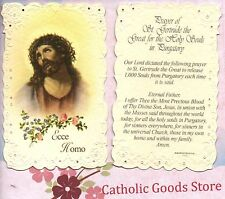 Ecce Homo - Prayer of St Gertrude the Great - Laced  Holy Card