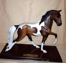 Breyer Model Horse Gallery Porcelain Bay Pinto Horse Dixieland Grand w/COA