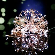 10M 100LEDs Flexible Bendable LED Micro Copper Wire String Fairy Lights Lamps UK