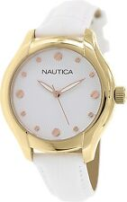 Nautica Women's Nct 18 N11633M White Leather Automatic Watch
