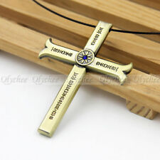 One Piece Hawk-Eye Dracule Mihawk Cosplay Kogatana Cross Sword Pendant Necklace