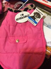 SIMPLY DOG JACKET Size XS Pink Reversible  NEW PET ACCESSORIES