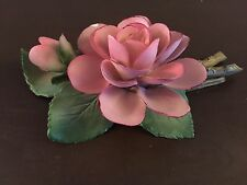 Mme Pierre Oger Ceramic Rose 1985 The Franklin Mint 12 Mo Of Roses Made In Italy