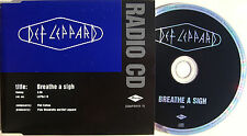 DEF LEPPARD CD Breath A Sigh 1 Track UK PROMO in Promo Only DJ Sleeve LEPJ19 MIN