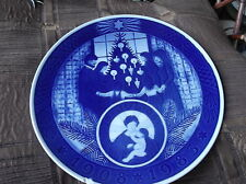 VINTAGE DISPLAY PLATE ROYAL COPENHAGEN DEEP BLUE ANNIVERSARY 1983 9.5""