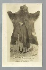Marcus WASHINGTON RP c1910 INDIAN WOMAN 100 Years Old BEAR SKIN Indians Palmer