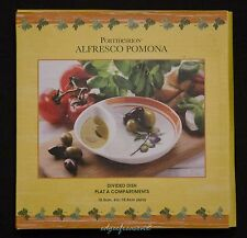 PORTMEIRION POMONA ALFRESCO DIVIDED DISH OLIVE