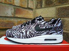 Nike AIR MAX 1 QS Zebra UK 4 Zoo Pack GS cavallino pelliccia nero 827657 100