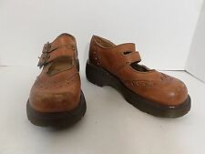 Dr. Martens Brown Leather Double Strap Mary Janes Size 4