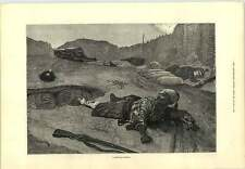 1877 cantón Woodville sin explotar Shell grabado momento crítico