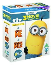 Despicable Me 1 2, Minions 3-Movie Collection (Blu-Ray Box Set, Region Free) NEW