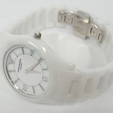 Stylish Ceramic White Plated Superslim Ladies Watch by Emporio Armani AR1443