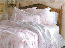 RACHEL ASHWELL King Comforter and Shams 3pc PINK ROSE FLORAL cottage