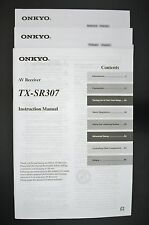Onkyo tx-sr307 original Av-receptor manual de instrucciones/instruction manual