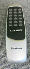 Goodman Audio CD MP3 Remote Control