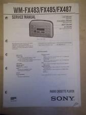 Sony Service Manual~WM-FX483/485/487 Walkman Radio Cassette Player~Original
