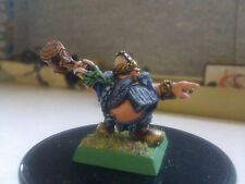 WARHAMMER FANTASY-DWARF W/ MACE-DWARFS-DWARVES-PAINTED-WARCROW MINIATURES