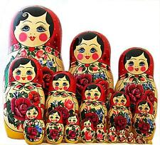 SEMENOVSKAYA 20 PC TRADITIONAL RUSSIAN DOLL  Big Size Matryoshka Babushka doll