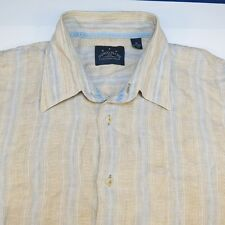 TOMMY BAHAMA INDIGO PALMS 100% LINEN HAWAIIAN SHIRT Sz Mens XL Colorful