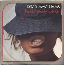 "DAVID McWILLIAMS - Days of pearly spencer VINYL 7"" 45 LP 1976 NEAR MINT COVER VG"