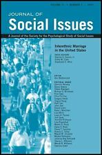 Journal of Social Issues (JOSI): At the Crossroads of Intergroup Relations...