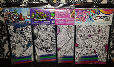 (4) Colorups Coloring Posters with Markers - My Little Pony Ninja Turtles etc