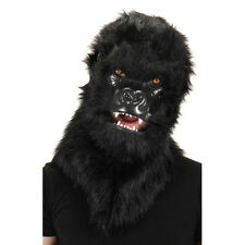 Deluxe Gorilla Furry Animal Moving Mouth Costume Adult Halloween Mask