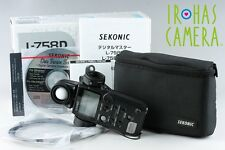 Sekonic Model L-758D Digital Master Light Meter With Box #9220F3
