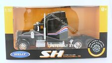 "Welly Peterbilt Model 379 Tractor 1:32 scale 10"" diecast truck Cab Black N207"