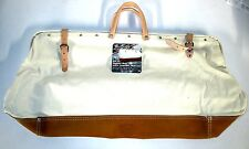 "McGuire Nicholas 24""  Mason Bag heavy duty canvas w/ Full grain leather bottom"