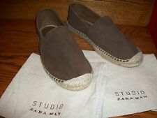 ZARA MAN LEATHER ESPADRILLES EU 44/UK 10/US 11 New and Perfect