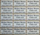 12 IRON ON Personalised Name Stickers Tag / Label for clothing, 3.0 X 1.5 CM