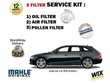 FOR AUDI A4 1.8i TFSi   5/2008-  SERVICE KIT OIL AIR POLLEN  FILTER SET ( 3 )