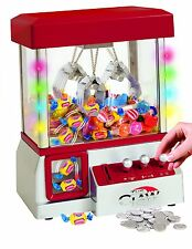 Electronic Claw Machine LED Lights Candy Grabber Arcade Kids Toy Music Crane NEW