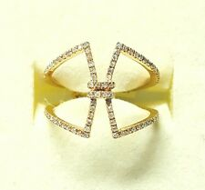 Geo Collection Split Shank Rose Gold Diamond Ring
