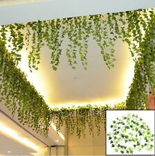 8.2feet Green Artificial Hanging Ivy Leaf Leave Garland Plants Vine Fake Home