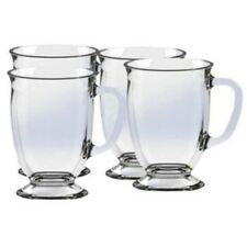 Pack of 4 Coffee & Tea Glass Mug Early Morning Coffe Cup Mugs Hot Beverage Drink