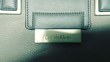 Calvin Klein Beige Leather Bag Purse snap on