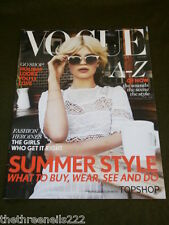 VOGUE UK SUPPLEMENT SUMMER STYLE 2012 with TOPSHOP
