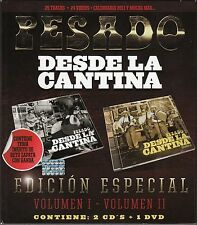PESADO Desde La Cantina Vol 1y 2 Edicion Especial Contiene 2CD's+1DVD  BOX SET
