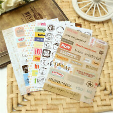 6Pcs Retro DIY Calendar Paper Stickers for Scrapbooking Diary Planner Sticky
