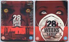 28 DAYS LATER & 28 WEEKS LATER BLU-RAY STEELBOOK NEU & OVP (DEUTSCHER TON)
