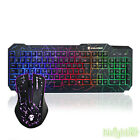 Colorful Illuminated Backlit USB Wired Pro Gaming Crack keyboard and Mouse set